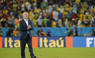 Le sélectionneur de l'équipe de France, Didier Deschamps, après le match nul contre l'Equateur, le 25 juin 2014, à Rio.