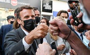 Emmanuel Macron en déplacement à Valence dans la Drôme le 8 juin 2021.