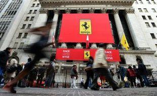 Wall Street se pare de rouge le 21 octobre 2015 pour accueillir Ferrari