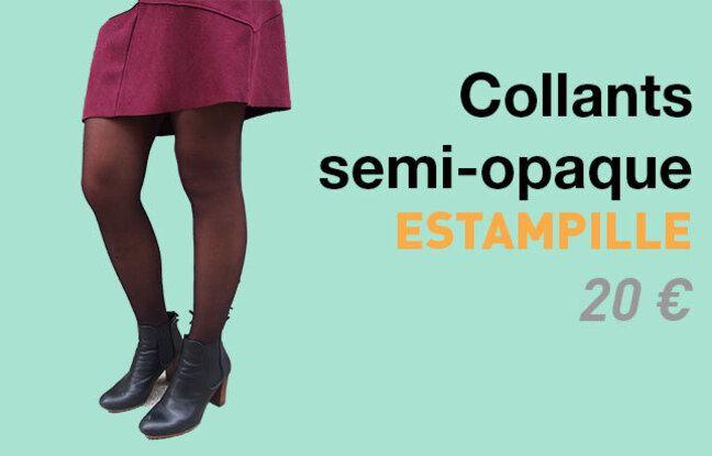 Collant semi-opaque Estampille