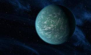 Vue d'artiste de la planète Kepler 22-b.