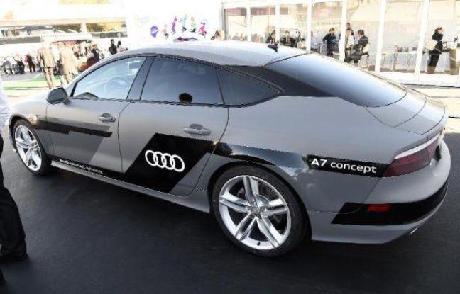 Une voiture Audi connectée et autonome, présentée au salon d'électronique grand public International de Las Vegas, le 6 janvier 2015
