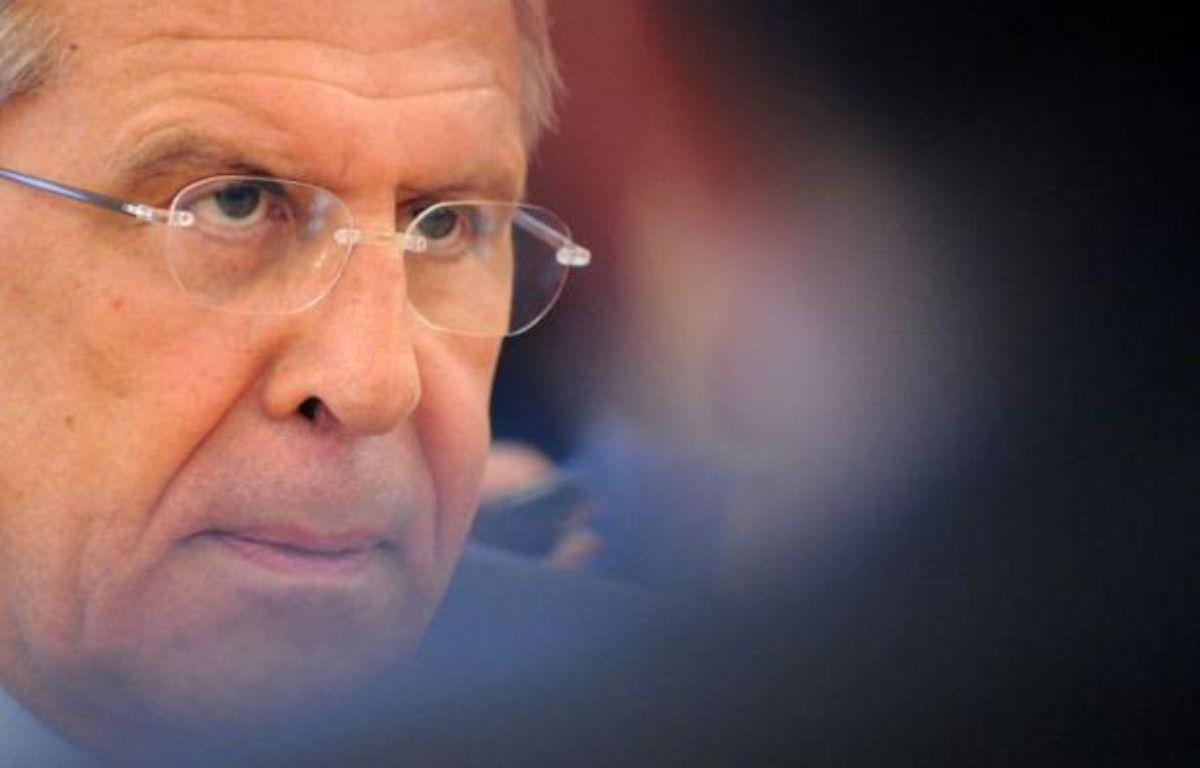 La Russie a refroidi jeudi les espoirs d'un accord sur la Syrie à la réunion de Genève, en maintenant qu'elle ne soutiendrait aucune solution imposée, au lendemain de la présentation par l'émissaire de l'ONU Kofi Annan d'un plan prévoyant un gouvernement de transition. – Kirill Kudryavtsev afp.com