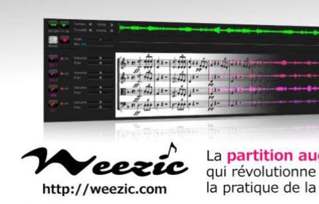 Capture d'écran du site Weezic