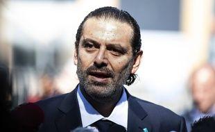 Le nouveauPremier ministre libanais Saad Hariri, le 18 août 2020.