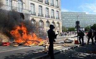 """Manifestation contre les """"violences policières"""" et en hommage à Steve, le 3 août à Nantes."""