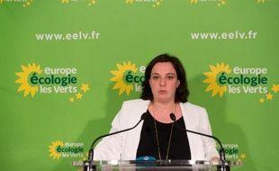 La secrétaire nationale d'EELV, Emmanuelle Cosse, à Paris le 23 mars 2014