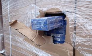 Une saisie de cigarettes de contrebande. Illustration.