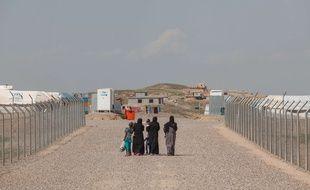 Des femmes et des enfants dans un camp de déplacés en Irak en mars 2017 (illustration).