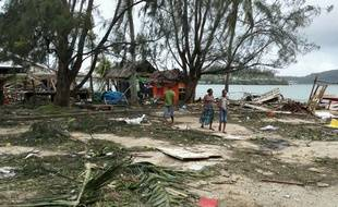 Port-vila, capitale de Vanuatu, après le passage du cyclone Pam