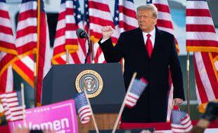 Donald Trump fait ses adieux à la base Andrews, le 20 janvier 2021.