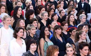 Les actrices mobilisées pour les mouvements Me Too et Time's Up au Festival de Cannes.