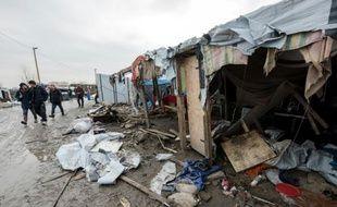 Des migrants le 10 mars 2016 à Calais