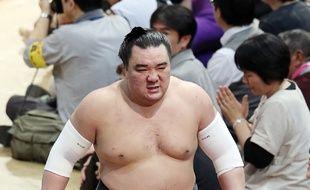 Harumafuji lors du tournoi de Fukuoka, le 13 novembre 2017.