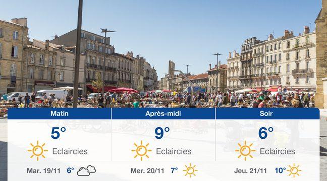 Météo Bordeaux: Prévisions du lundi 18 novembre 2019 - 20minutes.fr