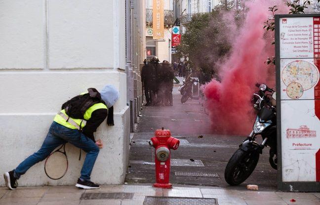 VIDEO. «Gilets jaunes» à Montpellier: Cinq interpellations et trois policiers blessés pour l'acte 11