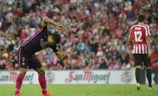 Luis Suarez était visiblement très énervé après son raté