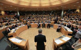 Strasbourg le 4 janvier 2016. Premier conseil régional de la nouvelle région Alsace-Champagne-Ardenne-Lorraine. Archives.