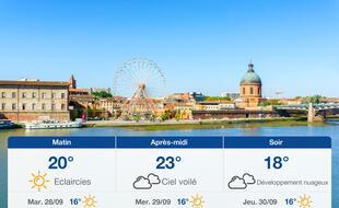 Météo Toulouse: Prévisions du lundi 27 septembre 2021