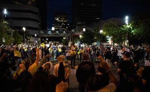 Des manifestants à Portland (Etats-Unis)