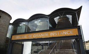Le palais de justice de Bordeaux, en Gironde.
