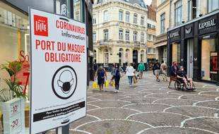 A Lille, dans certains endroits, on porte obligatoirement le masque dans la rue.