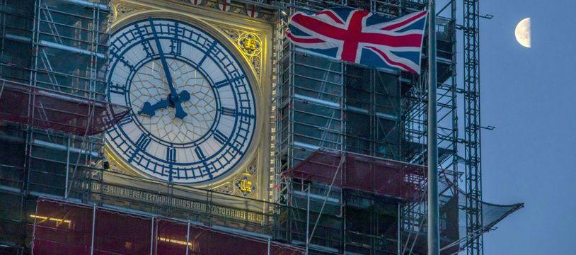 La tour de Big Ben, à Londres, pendant les travaux de restauration.