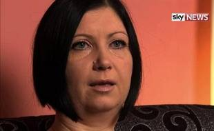 Capture d'écran de l'interview donnée par Dragana Haines à la chaîne Sky News le 7 décembre 2014