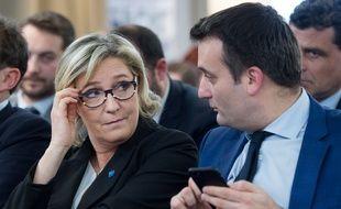 Marine Le Pen, présidente du FN, et Florian Philippot, le 5 janvier 2017 à Paris