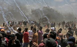 Au moins 58 Palestiniens ont été tués lors de heurts avec l'armée israélienne dans la Bande de Gaza, le 14 mai 2018.