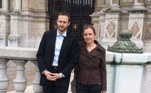 David Belliard et Anne Souyris, les coprésidents du Groupe Ecologiste de Paris.