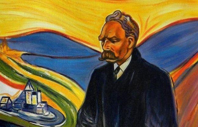 Peinture représentant le philosophe Friedrich Nietzsche