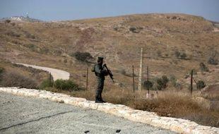 Un garde-frontière en Cisjordanie le 22 novembre 2015