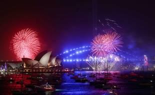 Le feu d'artifice du Nouvel An à Sidney, en Australie, le 31 décembre 2019.