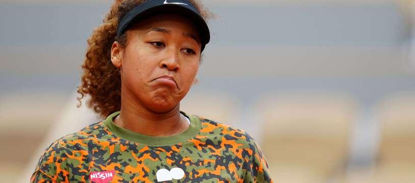 Naomi Osaka lors d'un entraînement à Roland-Garros, le 26 mai 2021.