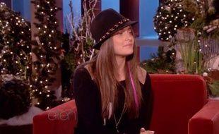 La fille de Michael Jackson, Paris, sur le plateau d'Ellen DeGeneres, le 14 décembre 2011.