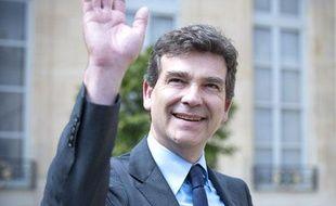 Arnaud Montebourg à la sortie du conseil des ministres, le 23 mai 2012.