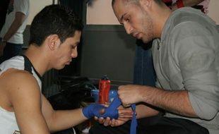 Sharif Hassenzade, sans-papier afghan et nouveau champion de France espoir de boxe française.