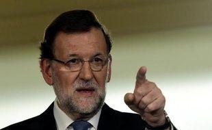 Le Premier ministre espagnol Mariano Rajoy lors d'une conférence de presse à Madrid, le 26 décembre 2014
