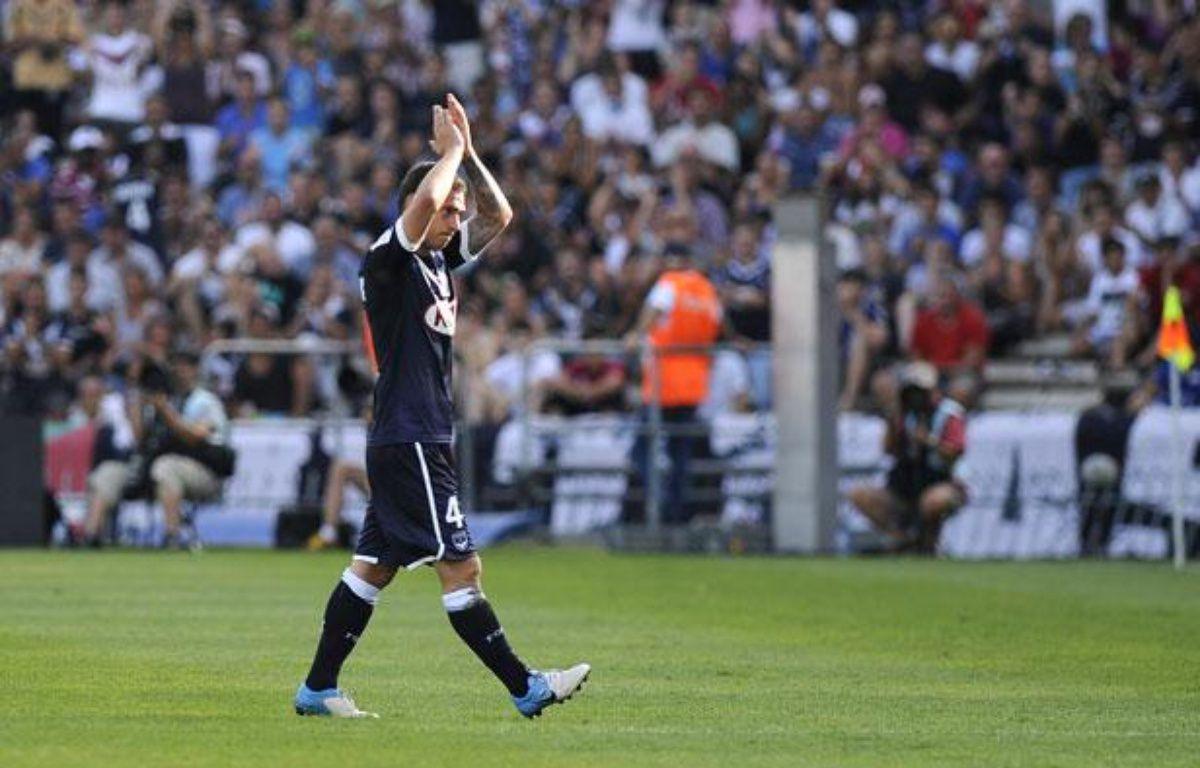 Le Bordelais Ludovic Obraniak face à Rennes, le 19 août 2012 – NICOLAS TUCAT / AFP