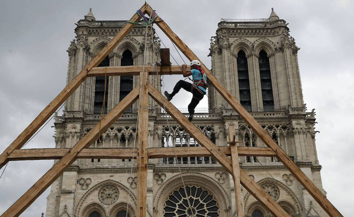 Notre-Dame de Paris en chantier en septembre 2020