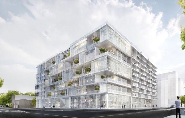 Le bâtiment de Clairsienne sur le périmètre de Bordeaux-Euratlantique accueillera des logements et des bureaux