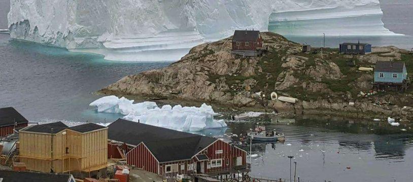 Un iceberg sur la côte nord-ouest du Groenland, en juillet 2018.