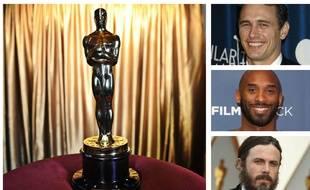 James Franco, Kobe Bryant et Casey Affleck (montage).