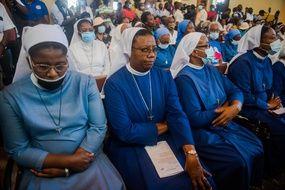 Des religieuses lors d'une messe à Port-au-Prince, en Haïti, le 15 avril 2021 (illustration).
