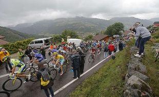 Le pelton sur les routes des Vosges, le 12 juillet 2014.