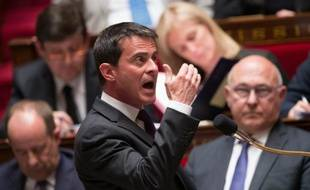 Le Premier ministre Manuel Valls, le 4 mai 2016 à l'Assemblée nationale à Paris