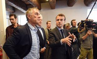 Patrick Vignal avec Emmanuel Macron, en mai 2016.