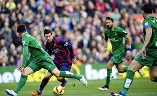 Lionel Messi lors du match entre Levante et le Barça le 15 février 2015.