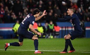 Cavani a frappé contre Lyon dimanche soir.